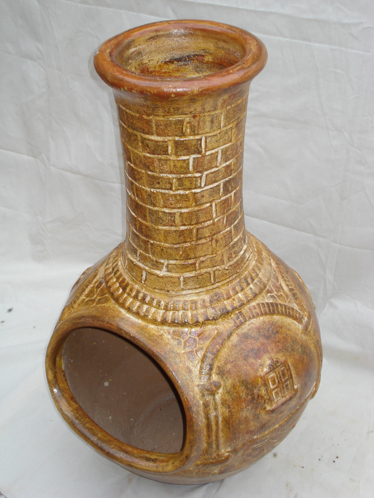 Copas, Chimeneas y Bases / Clay cups, clay fire place and metallic stands